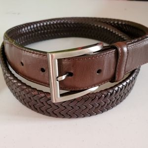 Brown Braided Leather Belt size 46/48